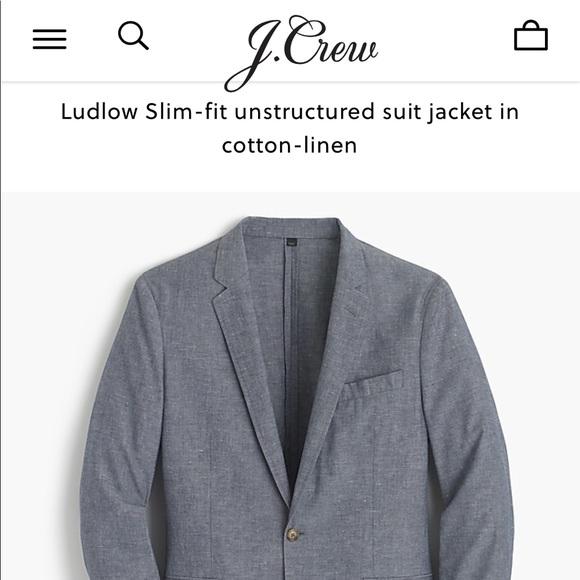 4bbe437050f4 J. Crew Suits & Blazers | Mens J Crew Cottonlinen Ludlow Blazer 42r ...